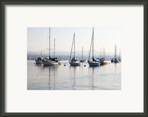 Newport Beach Bay Harbor California Framed Print By Paul Velgos