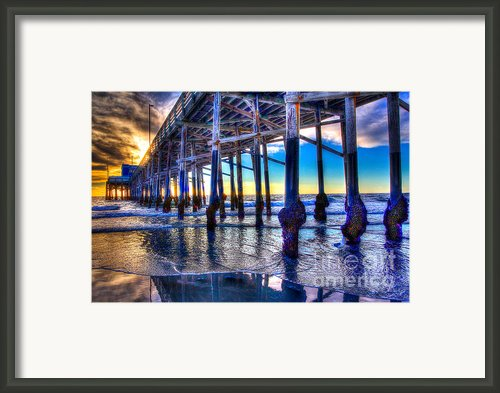 Newport Beach Pier - Low Tide Framed Print By Jim Carrell