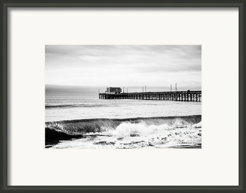 Newport Beach Pier Framed Print By Paul Velgos