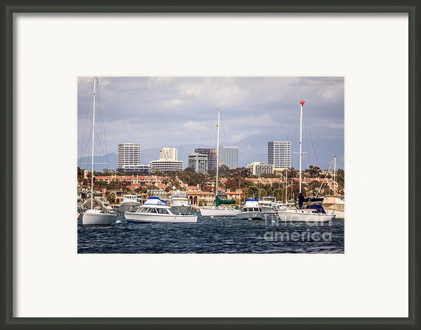 Newport Beach Skyline  Framed Print By Paul Velgos