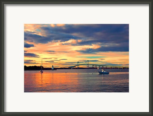 Newport Gold Framed Print By Joann Vitali