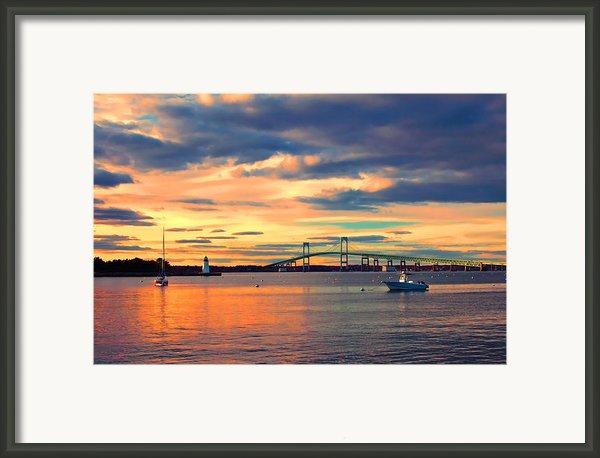 Newport Gold Framed Print By Joann Vitali