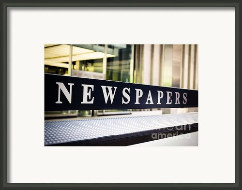 Newspapers Stand Sign In Chicago Framed Print By Paul Velgos