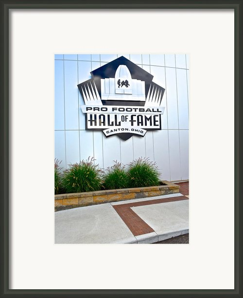 Nfl Hall Of Fame Framed Print By Robert Harmon