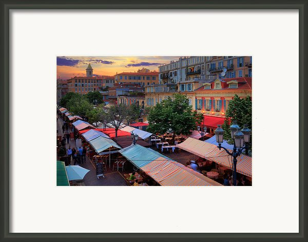 Nice Flower Market Framed Print By Inge Johnsson