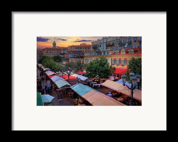 Nice Flower Market Framed Print By Inge Johnsson