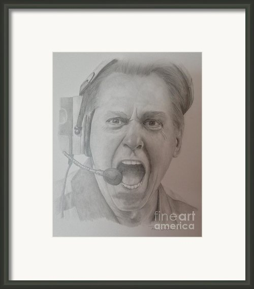 Nick Saban Motivational Speaker Framed Print By Ron Cartier