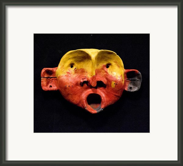 Nico Yellow And Red Mask Framed Print By Mark M  Mellon