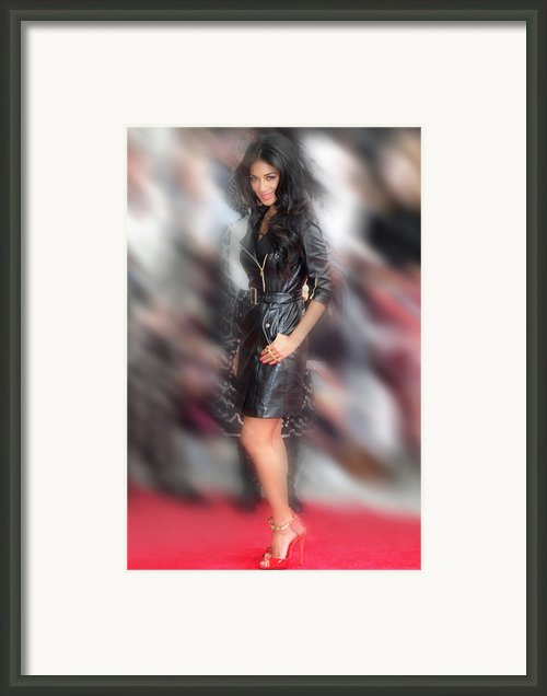 Nicole Scherzinger 24 Framed Print By Jez C Self