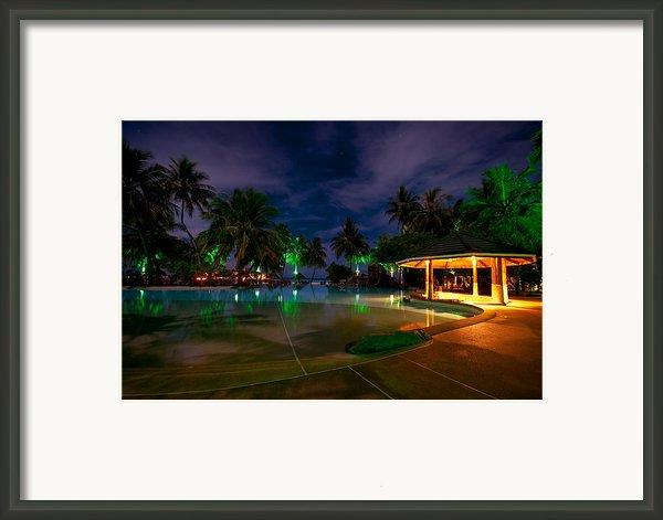 Night At Tropical Resort 1 Framed Print By Jenny Rainbow