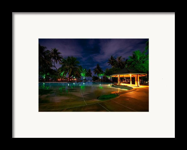 Night At Tropical Resort 1 Framed Print By Jenny Rainbow