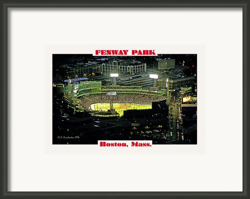Night Baseball Fenway Park Boston Massachusetts Framed Print By A Gurmankin