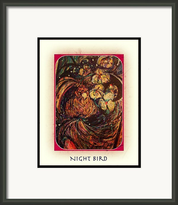 Night Bird Framed Print By Yomamabird Rhonda