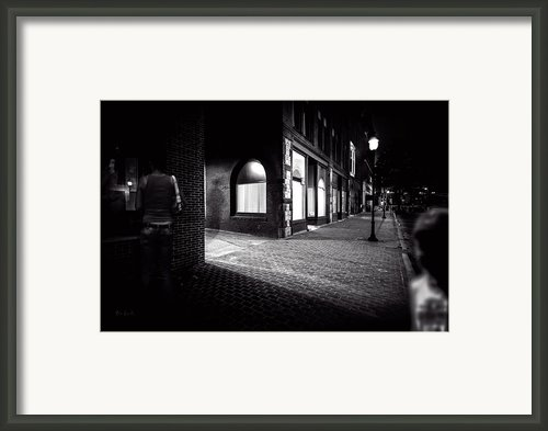 Night People Main Street Framed Print By Bob Orsillo