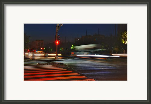 Night Streaks Framed Print By Joann Vitali