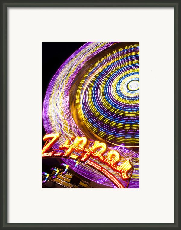 Night Zipper Framed Print By Caitlyn  Grasso