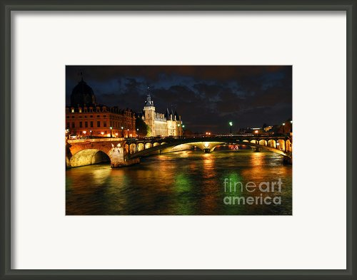 Nighttime Paris Framed Print By Elena Elisseeva