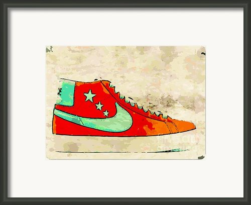 Nike Blazer Orange Framed Print By Alfie Borg