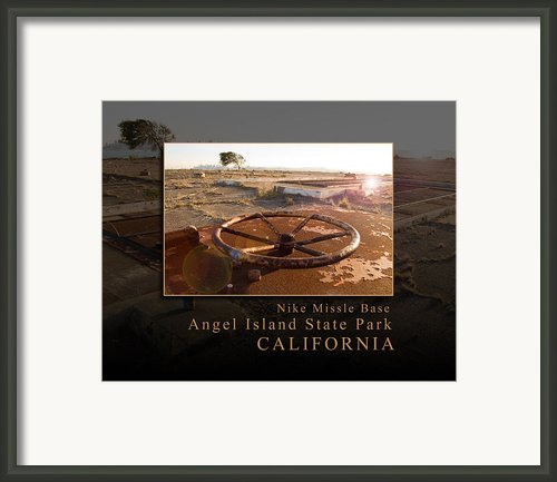 Nike Missile Base At Angel Island State Park - San Francisco California Framed Print By David Rigg