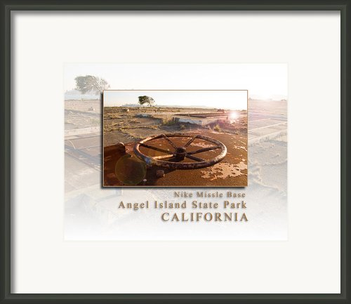 Nike Missile Base At Angel Island State Park - San Francisco California Hk Framed Print By David Rigg