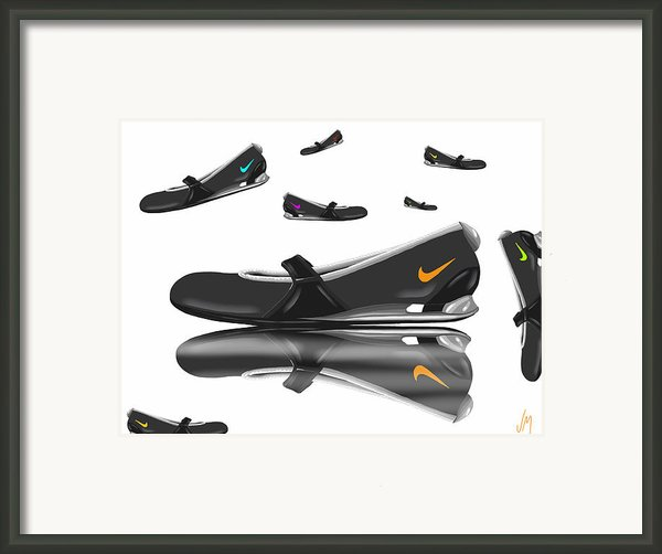 Nike Framed Print By Veronica Minozzi