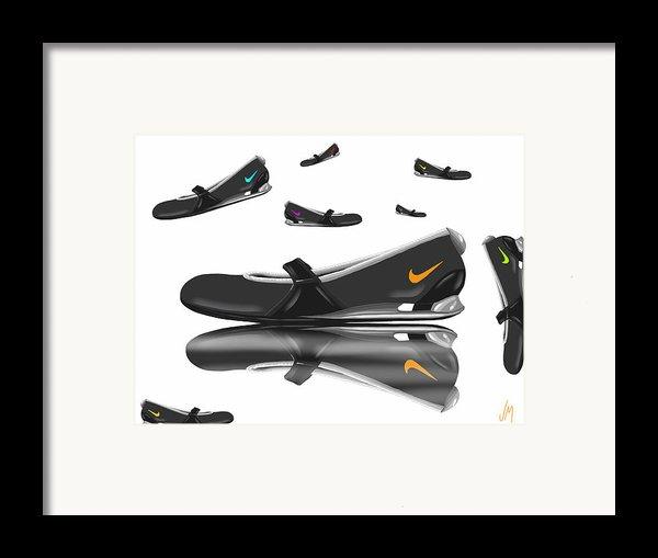 Nike Framed Print By Veronica Minozzi
