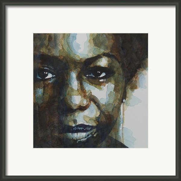Nina Simone Framed Print By Paul Lovering