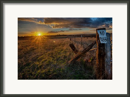 No Pass Ii Framed Print By Peter Tellone