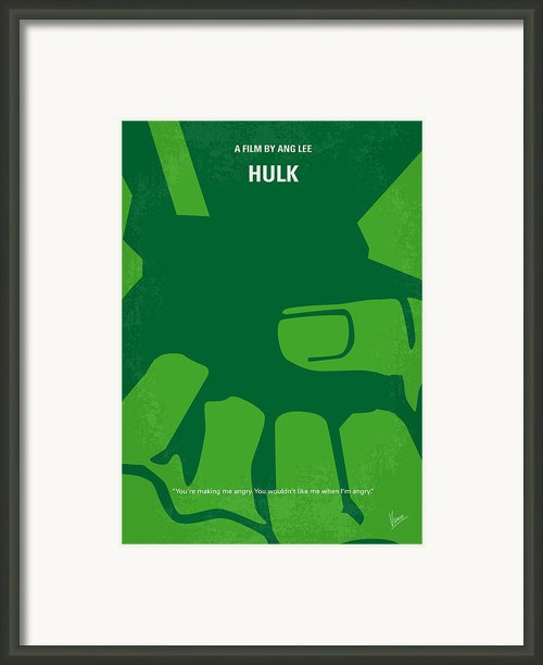 No040 My Hulk Minimal Movie Poster Framed Print By Chungkong Art