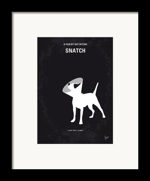 No079 My Snatch Minimal Movie Poster Framed Print By Chungkong Art
