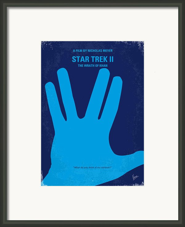 No082 My Star Trek 2 Minimal Movie Poster Framed Print By Chungkong Art