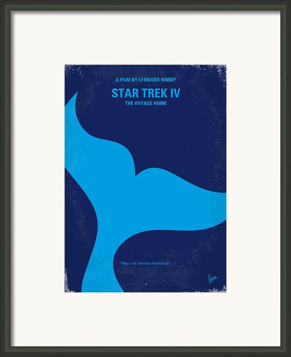 No084 My Star Trek 4 Minimal Movie Poster Framed Print By Chungkong Art