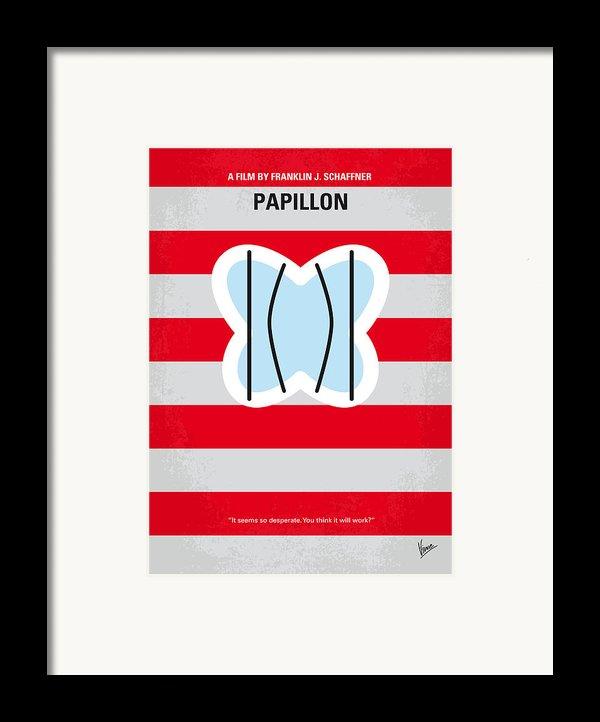 No098 My Papillon Minimal Movie Poster Framed Print By Chungkong Art
