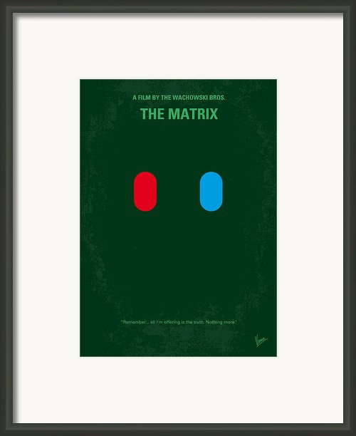 No117 My Matrix Minimal Movie Poster Framed Print By Chungkong Art