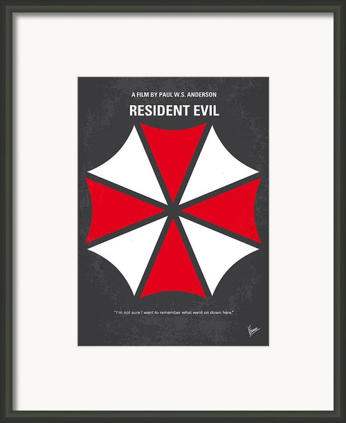 No119 My Resident Evil Minimal Movie Poster Framed Print By Chungkong Art