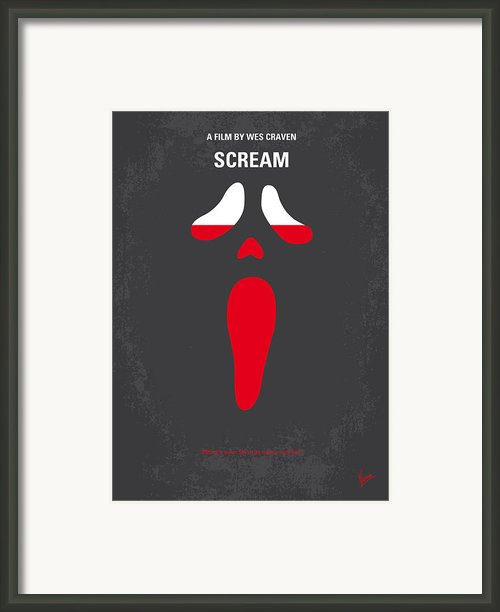 No121 My Scream Minimal Movie Poster Framed Print By Chungkong Art