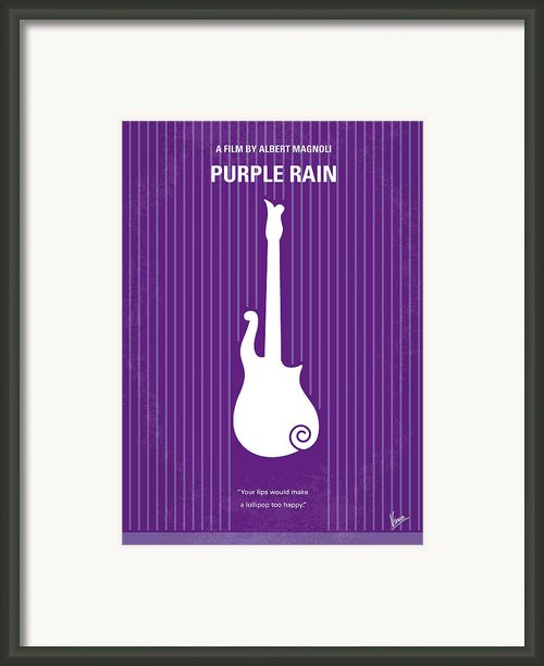 No124 My Purple Rain Minimal Movie Poster Framed Print By Chungkong Art