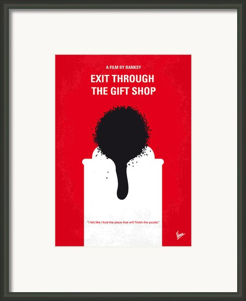 No130 My Exit Through The Gift Shop Minimal Movie Poster Framed Print By Chungkong Art