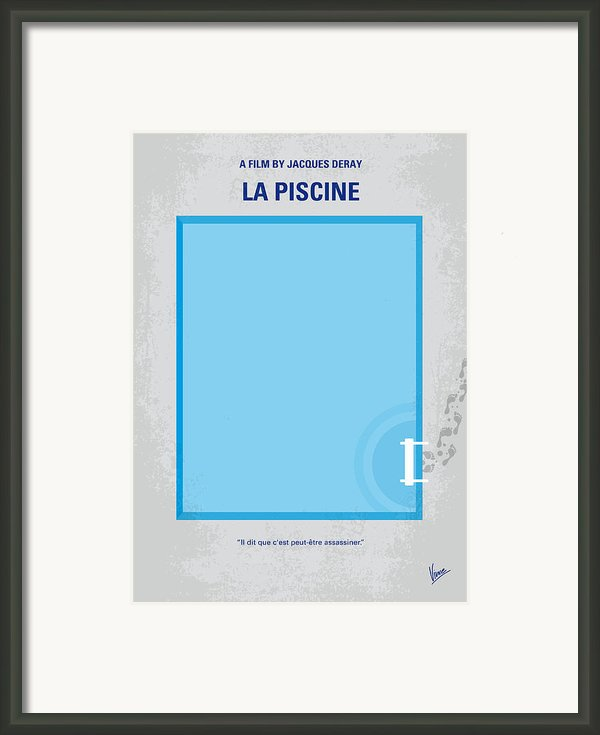 No137 My La Piscine Minimal Movie Poster Framed Print By Chungkong Art