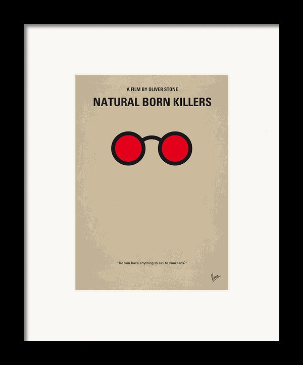 No139 My Natural Born Killers Minimal Movie Poster Framed Print By Chungkong Art