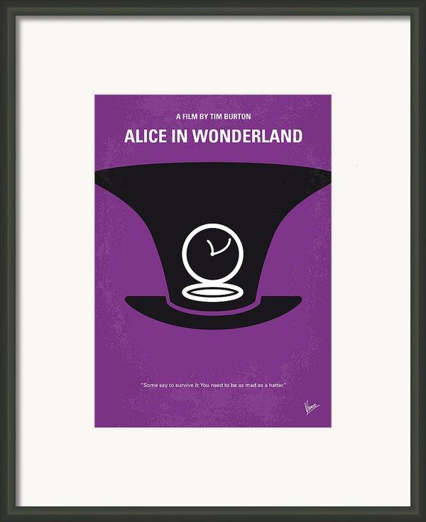 No140 My Alice In Wonderland Minimal Movie Poster Framed Print By Chungkong Art