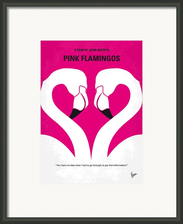 No142 My Pink Flamingos Minimal Movie Poster Framed Print By Chungkong Art