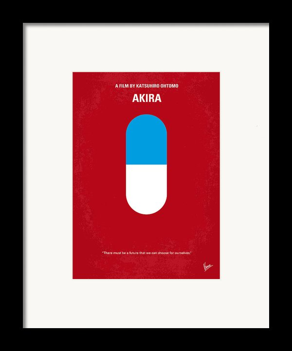 No144 My Akira Minimal Movie Poster Framed Print By Chungkong Art