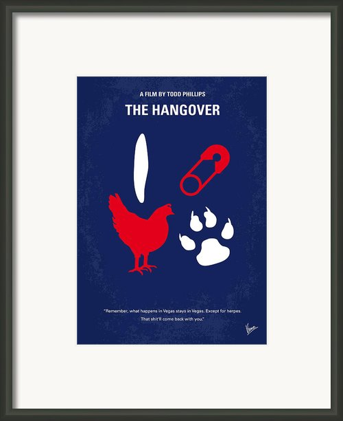 No145 My The Hangover Minimal Movie Poster Framed Print By Chungkong Art