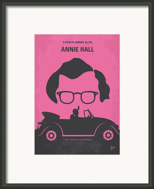 No147 My Annie Hall Minimal Movie Poster Framed Print By Chungkong Art