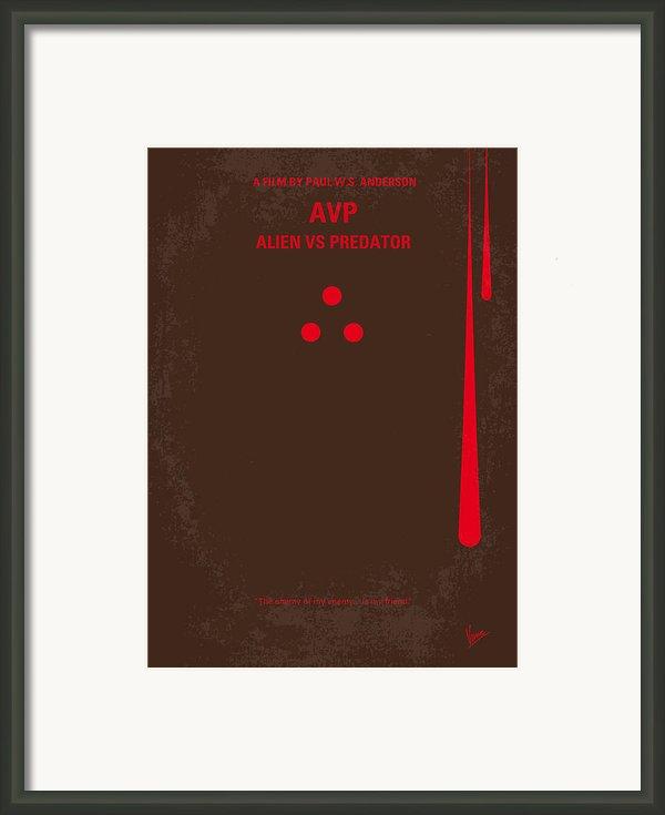 No148 My Avp Minimal Movie Poster Framed Print By Chungkong Art