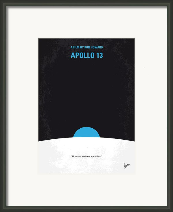 No151 My Apollo 13 Minimal Movie Poster Framed Print By Chungkong Art