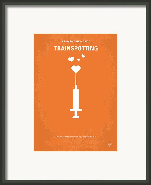 No152 My Trainspotting Minimal Movie Poster Framed Print By Chungkong Art