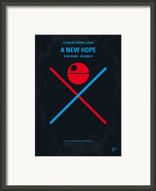No154 My Star Wars Episode Iv A New Hope Minimal Movie Poster Framed Print By Chungkong Art