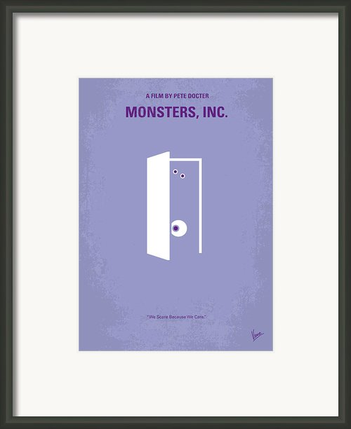 No161 My Monster Inc Minimal Movie Poster Framed Print By Chungkong Art